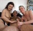 imagen trios amateur con sus mujeres y cuñadas