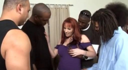 Madura Infiel Y Encima Con Cinco Negros
